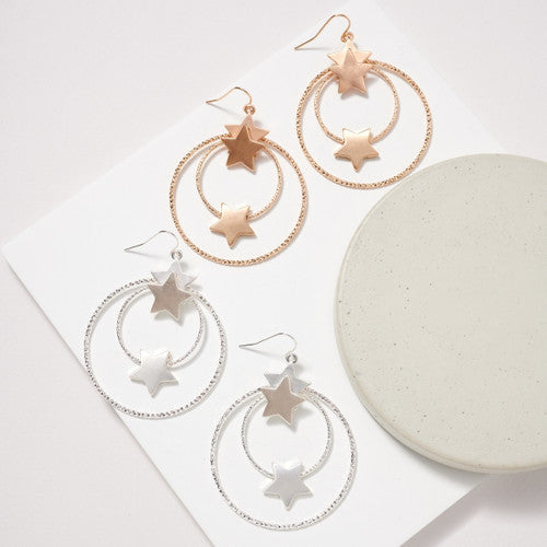 EARRING LAYER HOOP STAR