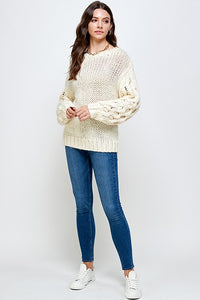 SWEATER CROCHET SLEEVE