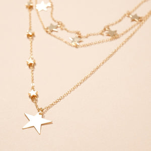 NECKLACE STAR LAYERED