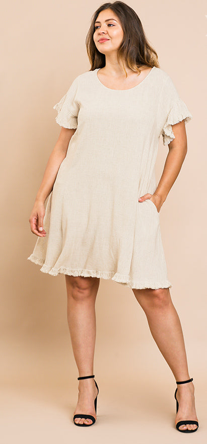 ALINE DRESS SHORT RUFFLE SLEEVE