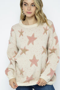 SWEATER STAR BUBBLE SLEEVE