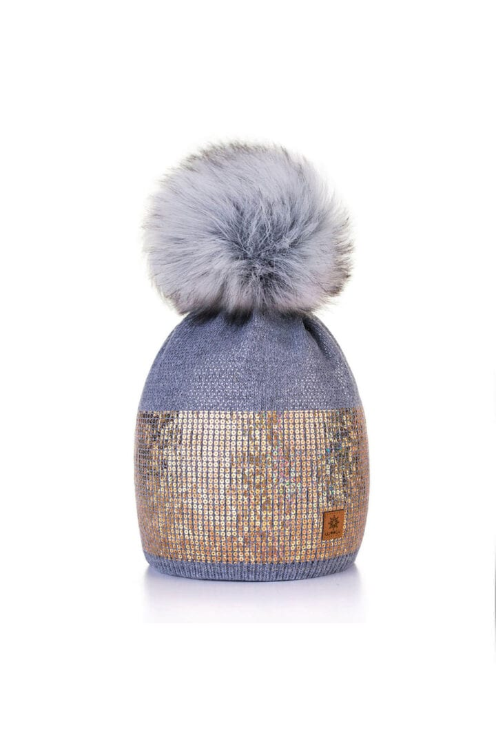 TOQUE WITH SEQUIN SHIMMER