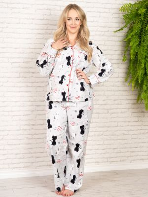 PJ SET FLANNEL PRINTED