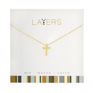 LAYERS NECKL GOLD CROSS