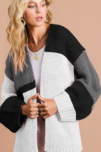 OPEN CARDIGAN COLOUR BLOCK