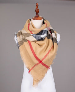 GRAND SCARF PLAID BLANKT