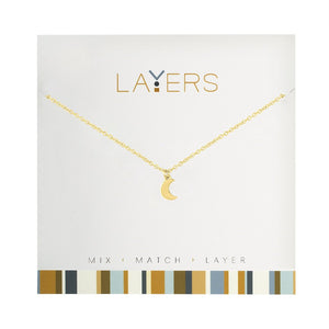 LAYERS NECKL GOLD MOON