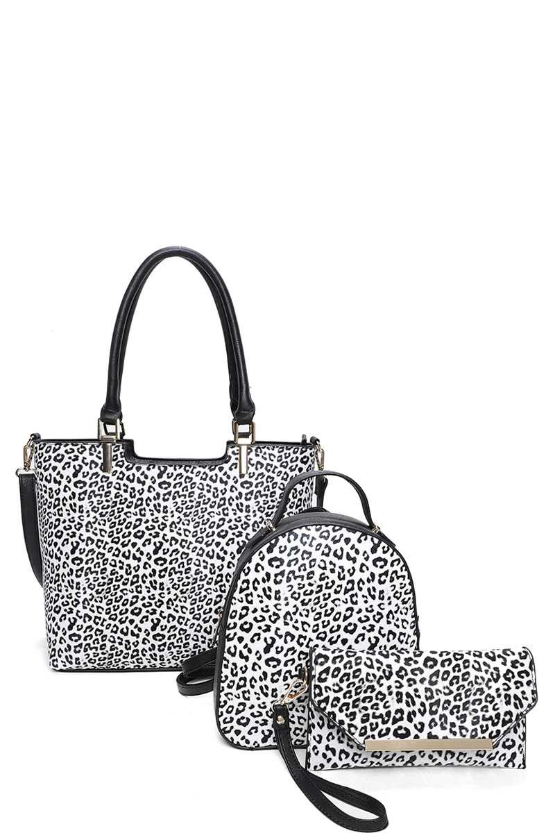 CHEETAH PRINT 3 IN 1 BAG
