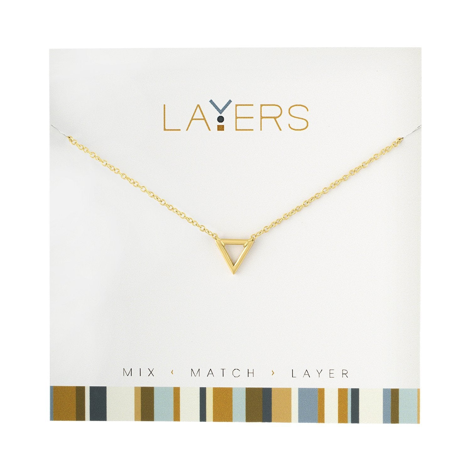 LAYERS NECKL GOLD TRIANGLE