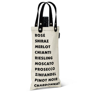 WINE BOTTLE TOTE-WINE LIST