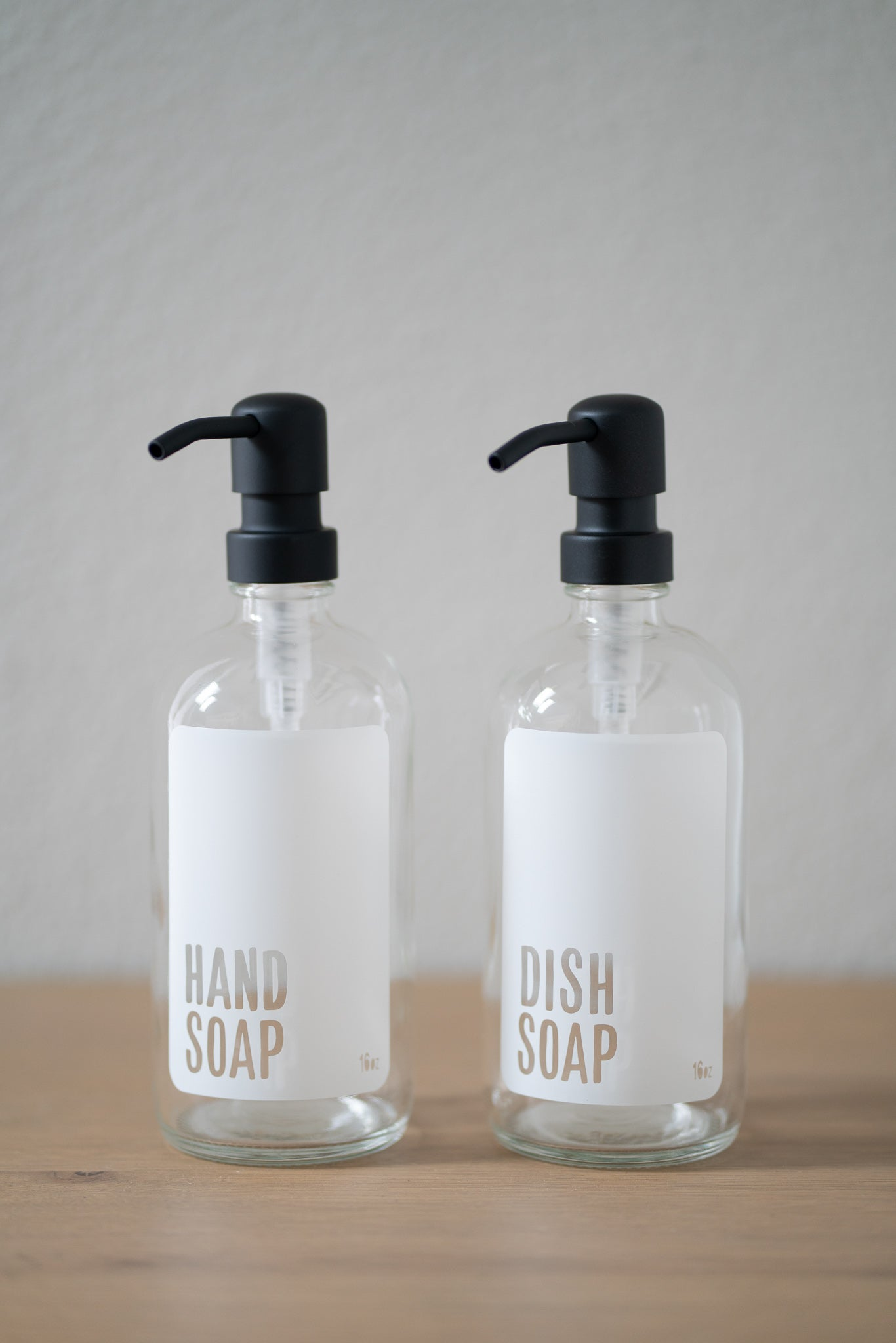 Imperfect Clear Glass Modern White Hand Soap or Dish Soap Dispenser