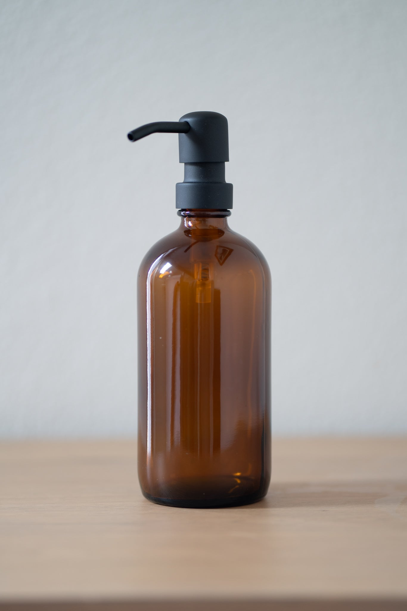 Amber Glass Soap Dispenser
