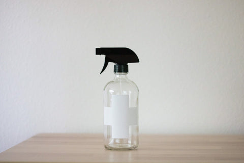 Clear Glass Cross Bottle w/Sprayer | Cleaner Spray Bottle