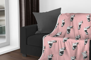 Custom Cat Sherpa Fleece Blanket