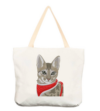 Load image into Gallery viewer, Custom Cat Tote Bag