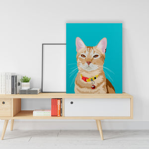Custom Cat on Canvass - Rectangular