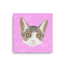 Load image into Gallery viewer, Custom Cat on Canvass - Square