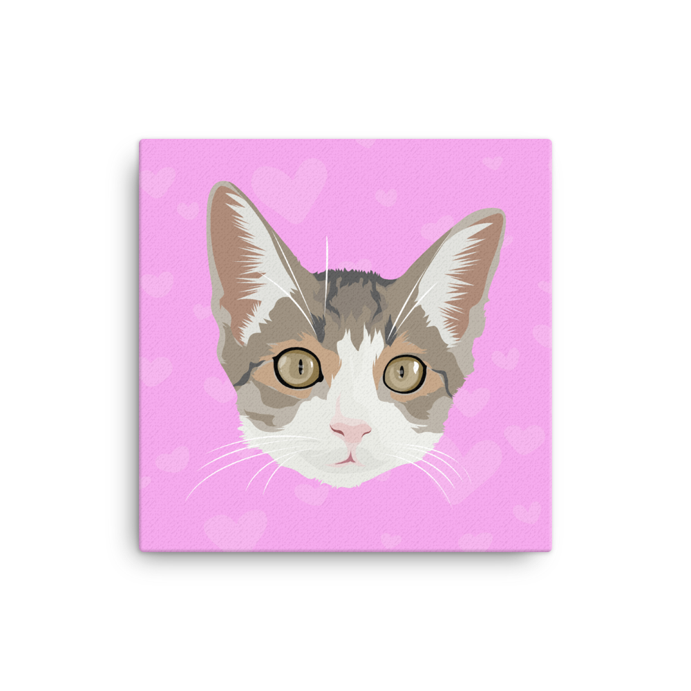 Custom Cat on Canvass - Square