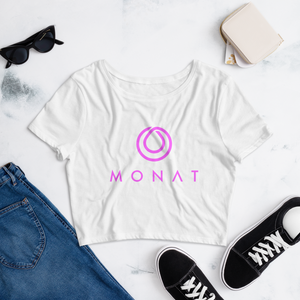 Monat Women's Crop Tee Cancer Awareness