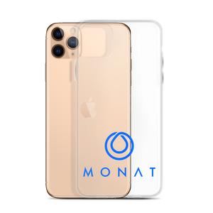 Monat iPhone Case Blue Logo