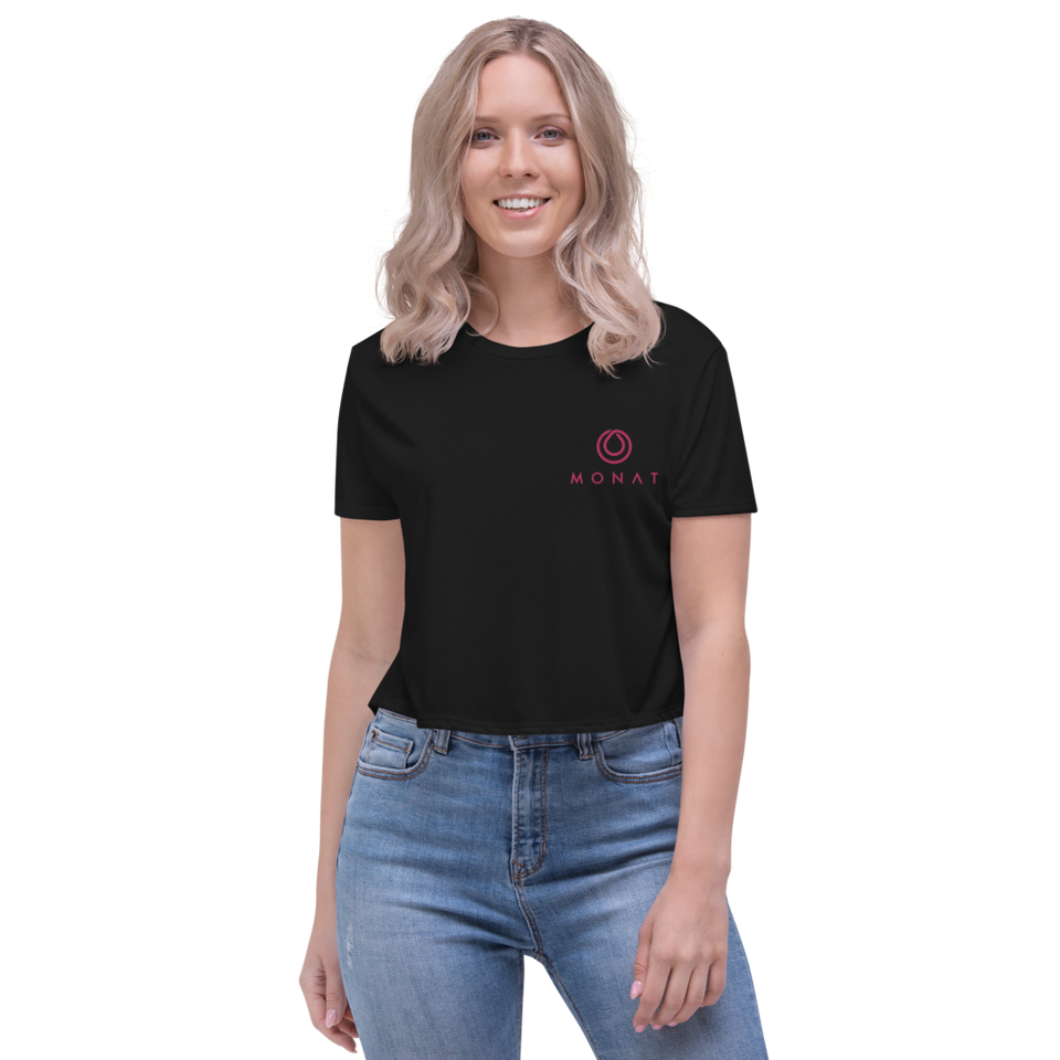 Monat Embroidered Crop Top Cancer Awareness