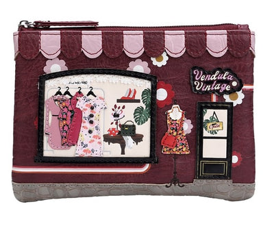 Vendula Vintage Zip Coin Purse by Vendula is the perfect size to carry around with room for a couple of cards, notes and coins. Has a key ring attached for convenience, and lots of stitched detailing.  Vegan approved, perfect little gift.