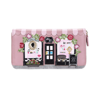 Beauty Lounge large zip around wallet by Vendula is a perfect size for those who love to carry everything in the their wallets. With many card and note departments as well space for the coins this wallet offers some gorgeous and fun details. A perfect gift idea, or a nice change from the ordinary purse!! These are vega…