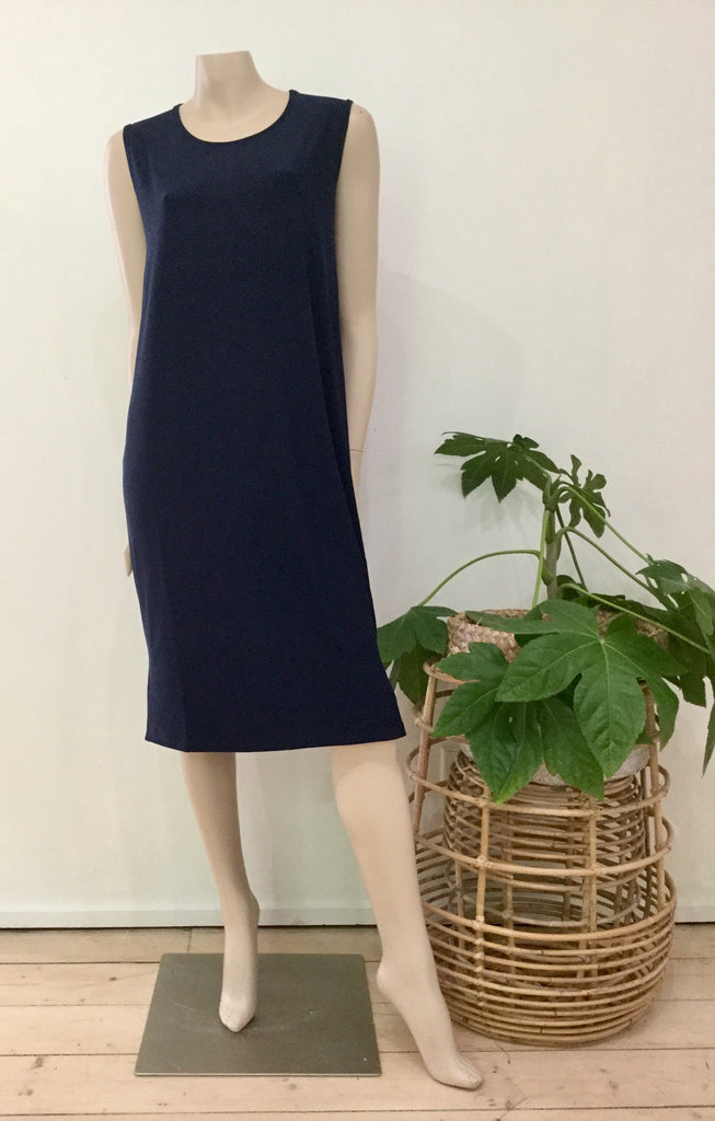 Slip dress navy