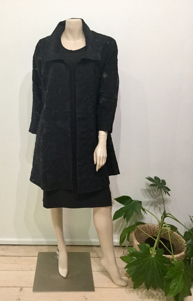 Pleat jacket Oscar black