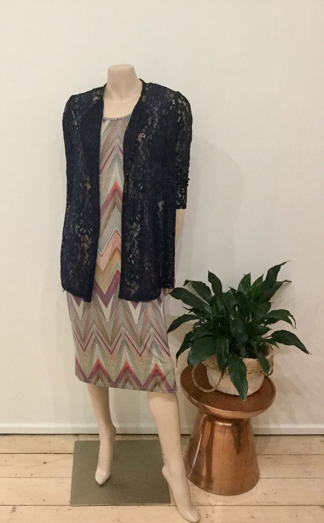 Heather cardigan navy