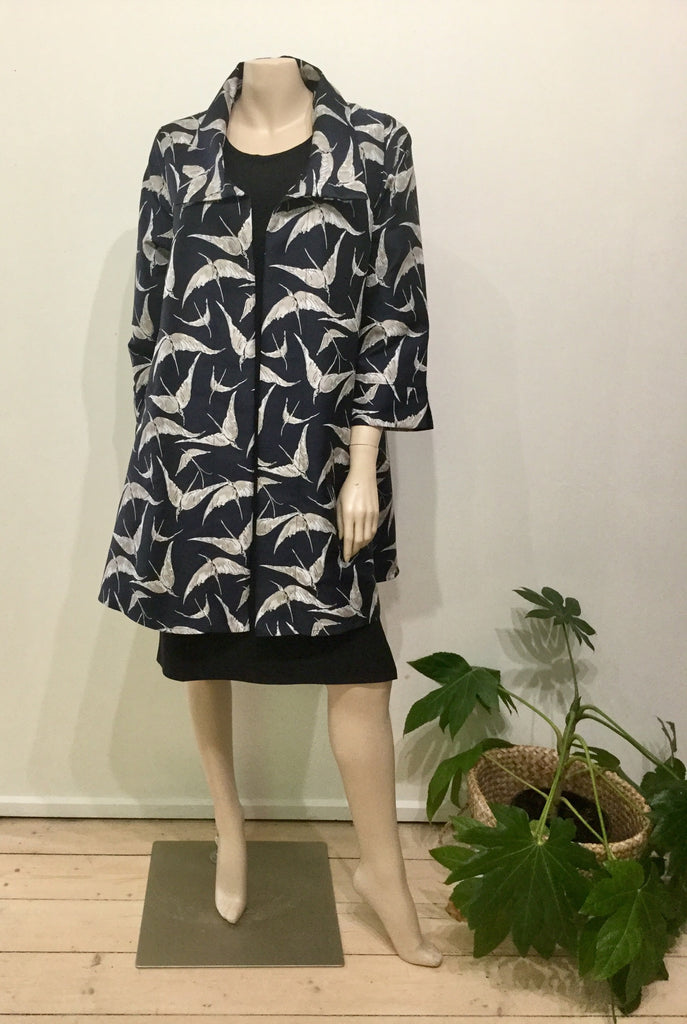 Pleat jacket wingspan navy