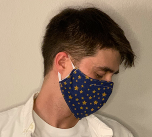 "Sewn Mask (""Starry Night"", Cloth Lining)"
