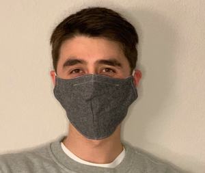 "Sewn Mask (""Charcoal"", Cotton Lining)"