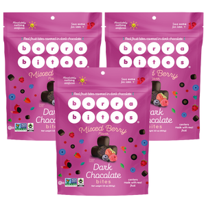 Mixed Berry Dark Chocolate Bites (Pack of 3)