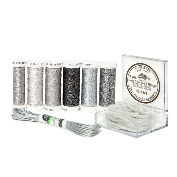 Ensemble de Soie Thread Kit - Silver