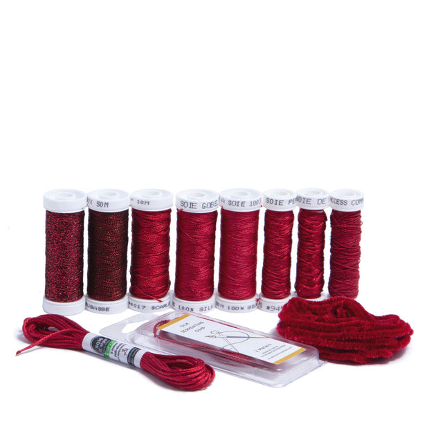 Ensemble de Soie Thread Kit - Red