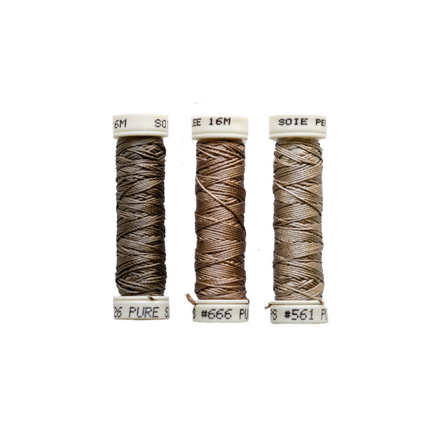 Au Ver à Soie ® Soie Perlee Silk Thread Kit - French Taupe
