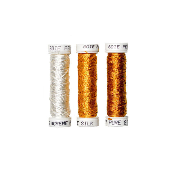 Au Ver à Soie ® Soie Perlee Silk Thread Kit - Golden