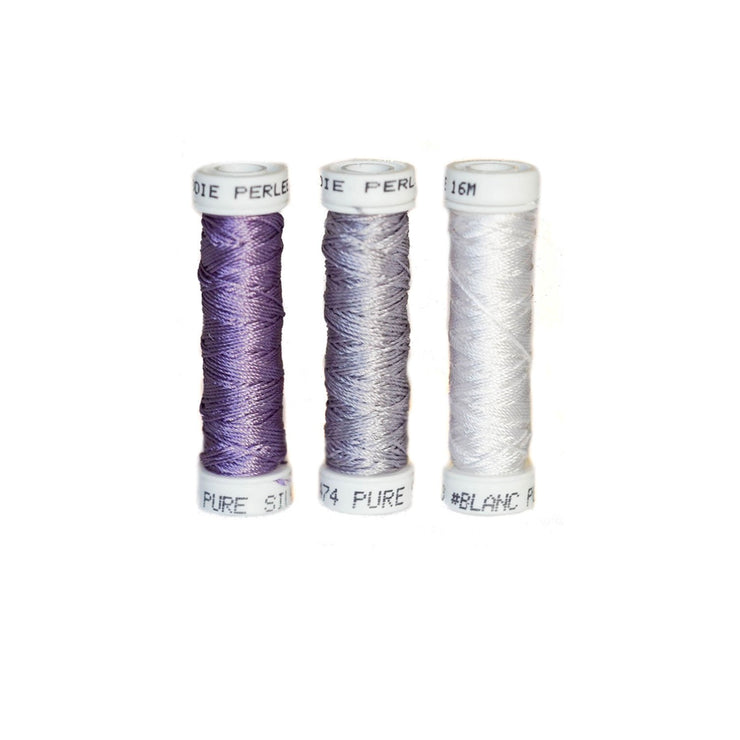 Au Ver à Soie ® Soie Perlee Silk Thread Kit - Lilac