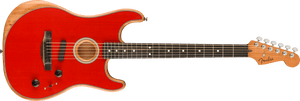 Fender American Acoustasonic® Strat®, Ebony Fingerboard, Dakota Red Acoustic Guitar 0972023254
