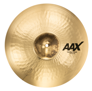 "SABIAN 16"" Medium Crash AAX Brilliant Finish Cymbal 21608XCB"