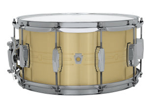 Ludwig 7X14 HEIRLOOM Snare Drum-BRASS LBR0714