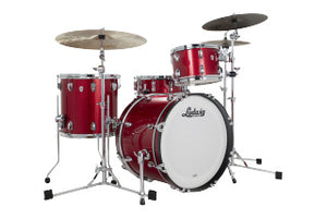 "Ludwig 20"" Classic Oak DOWNBEAT Red Sparkle Drum Shell Pack L7340AX27"