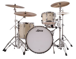 "Ludwig 24"" Classic Maple PRO BEAT Vintage White Marine Drum Shell Pack L84433AXNMWC"
