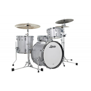 "Ludwig 24"" Classic Oak PRO BEAT Silver Sparkle Drum Shell Pack L7344AX0SWC"
