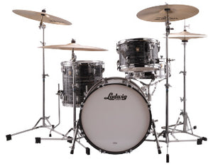 "Ludwig 20"" Classic Maple DOWNBEAT Vintage Black Oyster Drum Shell Pack L84023AX1Q"