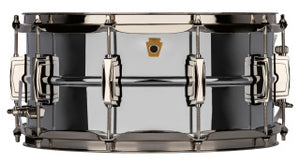 Ludwig 6 1/2 X 14 CHROME BR W/Nickel Hardware Snare Drum LB402BN