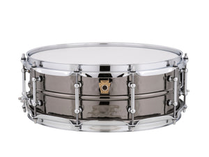 Ludwig 5X14 Hammered Black Beauty W/TUBE LUGS Snare Drum LB416KT