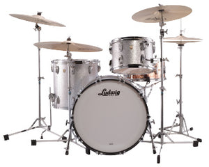 "Ludwig 22"" Classic Maple FAB Silver Sparkle Drum Shell Pack L84233AX0SWC"