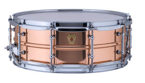 Ludwig 5X14 COPPER SMOOTH W/TUBE LUGS Snare Drum LC660T